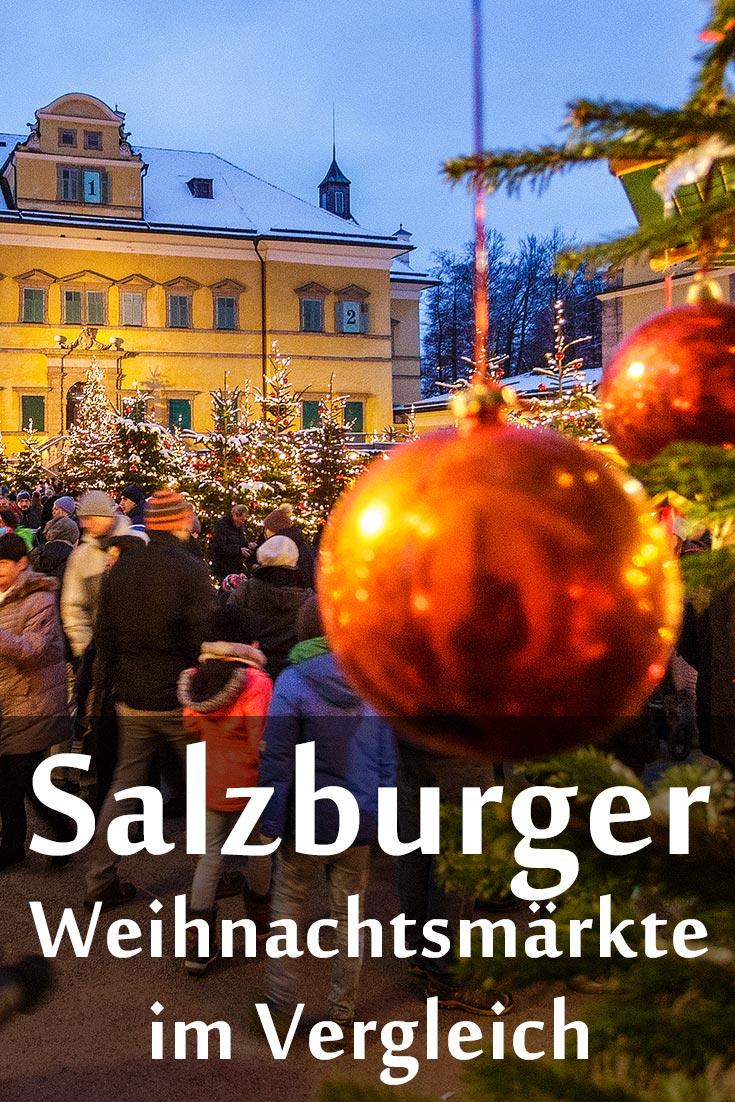 Weihnachtsmärkte in Salzburg: Erfahrungsbericht zum Christkindlmarkt, Schloss Hellbrunn, Mirabellplatz, Sternadvent-Markt mit Fotos und GPS-Koordinaten.