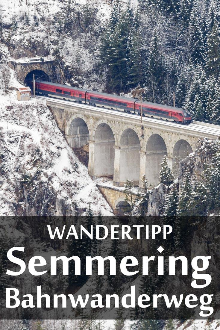Bahnwanderweg am Semmering: Erfahrungsbericht mit Fotos des 20-Schilling-Blicks und des Viadukts Kalte Rinne im Winter.