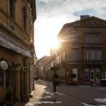 Historische Gebäude in der Altstadt von Sopron