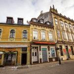 Historische Fassaden in der Altstadt von Sopron