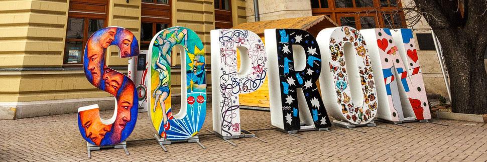 Buchstabenlogo von Sopron
