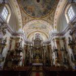 Innenansicht der Dominikanerkirche (Domonkos Rendház)
