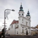 Außenansicht der Dominikanerkirche (Domonkos Rendház)