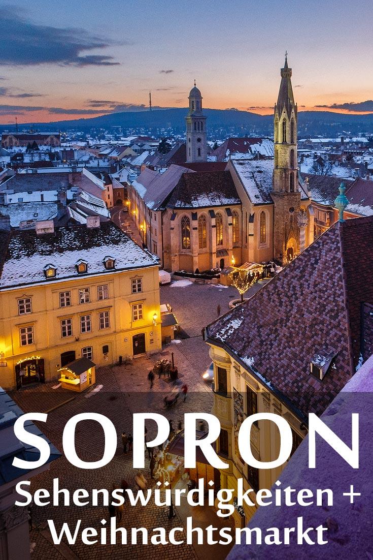 Sopron in Ungarn: Erfahrungen zu Sehenswürdigkeiten, dem Weihnachtsmarkt, den besten Fotospots sowie allgemeinen Tipps.