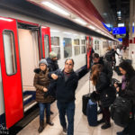 Mit dem Zug gelangt man vom Flughafen Brüssel-Zaventem schnell in die Innenstadt