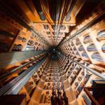 Aufzug in die oberste Kugel des Atomiums