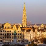 Blick vom Mont des Arts auf die Altstadt von Brüssel