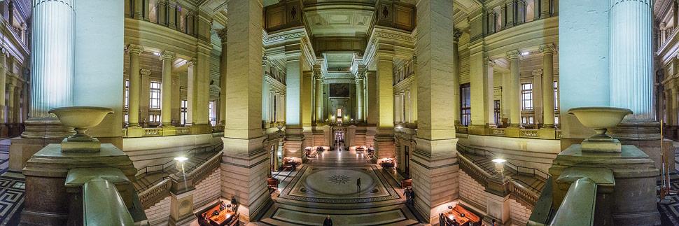 Innenansicht des Justizpalast in Brüssel