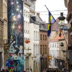 Etliche Brüsseler Hausfassaden sind mit Comics bemalt