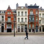 Historische Häuserzeile im EU-Viertel von Brüssel
