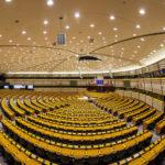 Der Plenarsaal im Europäischen Parlament in Brüssel