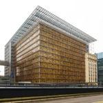 Das Europagebäude im EU-Viertel von Brüssel
