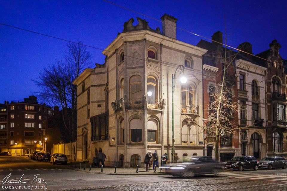 Das Jugendstilgebäude (Art nouveau) Hôtel Hannon in Brüssel