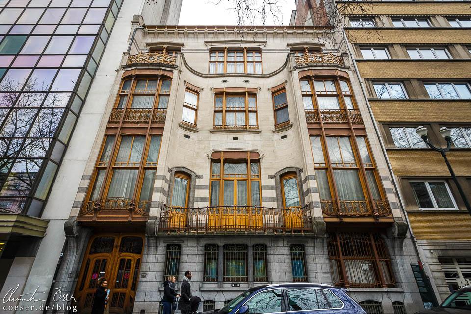 Das Jugendstilgebäude (Art nouveau) Hôtel Solvay in Brüssel