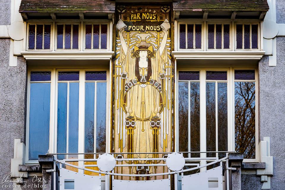 Das Jugendstilgebäude (Art nouveau) Maison Couchie in Brüssel