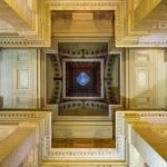 Blick in die Kuppel im Justizpalast in Brüssel