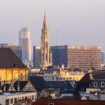 Blick vom Place Poelaert auf die Innenstadt von Brüssel