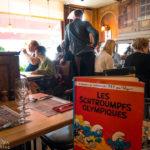 Innenansicht und Speisekarte im Restaurant Le Zinneke in Brüssel