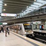 Die Metro von Brüssel in der Station Schuman