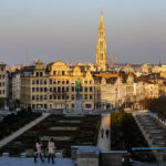 Aussicht vom Mont des Arts / Kunstberg auf die Altstadt von Brüssel