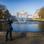 Der Triumphbogen (Arcades du Cinquantenaire) in Brüssel