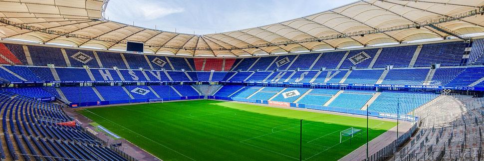 Das Volksparkstadion des HSV in Hamburg