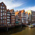Die historische Häuserzeile in der Deichstraße