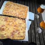 Flammkuchen und Bier am Duckstein Festival in der Hamburger Speicherstadt