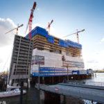 Baustelle der Elbphilharmonie im Oktober 2009