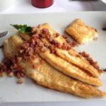 Fischgericht im Restaurant Fischereihafen