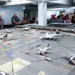 Der Flughafen in der Modelleisenbahn Miniatur Wunderland