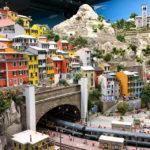 Die Amalfiküste im Italien-Abschnitt in der Modelleisenbahn Miniatur Wunderland