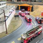 Feuerwehreinsatz in Las Vegas in der Modelleisenbahn Miniatur Wunderland