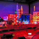 Das beleuchtete Las Vegas in der Modelleisenbahn Miniatur Wunderland