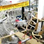 Foto des Baus des Schweiz-Abschnitts in der Modelleisenbahn Miniatur Wunderland (Stand Anfang 2007)