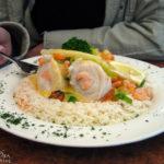 Fischgericht im Restaurant Friesenkeller (jetzt VLET an der Alster)