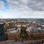Blick auf Hamburg vom Michel (Hauptkirche St. Michaelis) aus gesehen