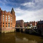 Blick auf die Hamburger Speicherstadt