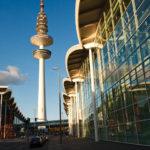 Der Fernsehturm Heinrich-Hertz-Turm und das Messegelände