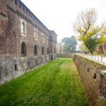 Burggraben des Mailänder Schlosses (Castello Sforzesco)