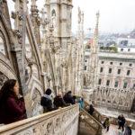 Aufstieg auf das Dach des Mailänder Doms
