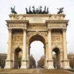 Der Friedensbogen Arco della Pace in Mailand