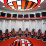 Kabine des AC Milan im Giuseppe-Meazza-Stadion (San Siro)
