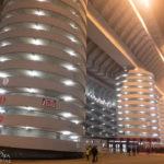 Über diese Türme gelangt man auf die Tribünen des Giuseppe-Meazza-Stadions (San Siro)