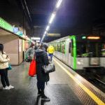 Die Metro M2 in der Station Porta Genova FS in Mailand