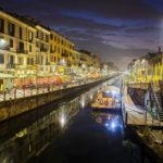 Abendliche Stimmung auf dem Naviglio Grande in Mailand
