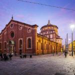 Außenansicht der Kirche Santa Maria delle Grazie in Mailand