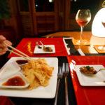 Eine der Speisen im Asian Wok Restaurant auf der Insel Meeru (Malediven)