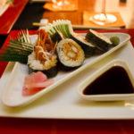 Sushi im Asian Wok Restaurant auf der Insel Meeru (Malediven)