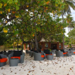 Eine Cocktailbar auf der Insel Meeru (Malediven)